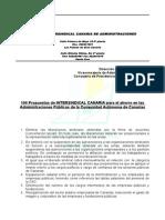 100 Propuestas de Ahorro de Intersindical Canaria