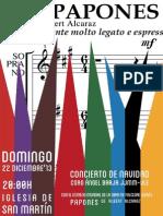 """PROGRAMA CONCIERTO DE NAVIDAD - ESTRENO DE PAPONES - CORO """"ÁNGEL BARJA"""" JJMM-ULE - 22.12.13"""
