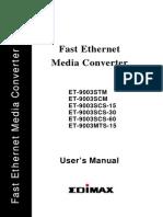Media Converter ET-9003SxM_M