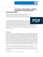 Feminization and Labor Vulnerability in Global Manufacturing Industries