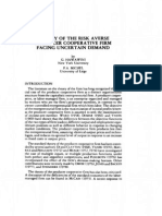 Theory of the Risk Averse Producer Cooperative Firm