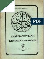 Analisa Khatamannabiyyin Muhammad Sadiq h.a.