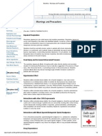 Morphine - Warnings and Precautions