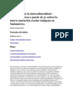 Para Abordar La Interculturalidad