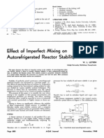 Effect of Imperfect Mixing on Autorefrigerated Reactorstability