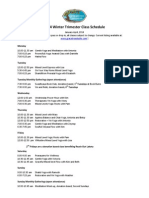2014 Gracetree Winter Trimester  Class Schedule