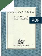 Estela Canto- Borges a Contraluz