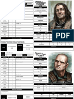 Personagens - Guerra Dos Tronos RPG