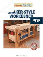 Woodsmith Shaker Style Workbench