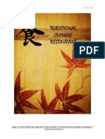 English Research Essay (Traditional Chinese Restaurant)