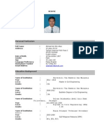 sample of resume (simple and compact)