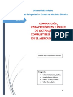 Motores de Combustión Interna - Trabajo Nro 04 - Características de los Combustibles en el Mercado Peruano