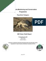 Playa Norte Green Season Report 2007