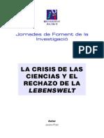 Jovino Pizzi - La Crisis de La Ciencias y El Lebenswelt