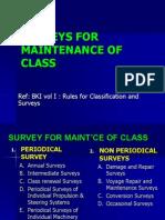 2. Surveys for Maint'Ce Class