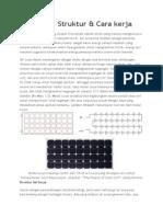 Sel Surya - Struktur & Cara Kerja