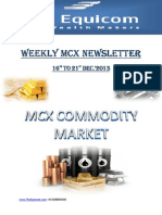 Weekly MCX Newslettre By Theequicom 16-December