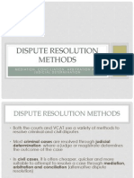dispute resolution methods