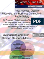 Disaster Preparedness Recovery and Business Continuity Richard Varn CDG