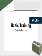 Concrete Block Presentation