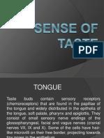 5.Sense of Taste