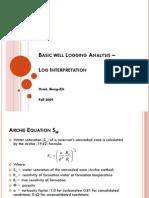 Basic Well Logging Analysis -9 (Log Interpretation)