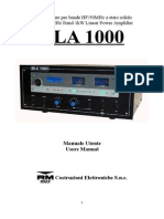 Manuale Di Istruzione BLA 1000 Beta