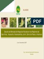 Estudio de Mercado de Negocios Rurales
