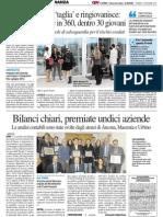 Bilanci chiari, premiate undici aziende - Il Resto del Carlino del 13 dicembre 2013