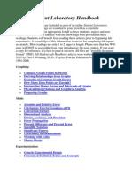 Student Laboratory Handbook