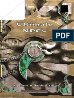 MGP9013 - 3.5E Ultimate NPCs, Supplementary Rulebook XIII