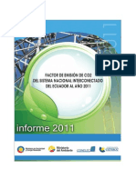 Factor Emision CO2 2011