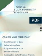 Analisis Data Kuantitatif - Pengenalan
