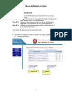 Manual de Registro de Notas
