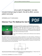 Wenner Four Pin Method for Soil Resistivity Test