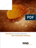 Insuring the Insurance Business With Actionable Analytics