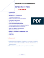 Measurement and Instrumentation Lecture Notes
