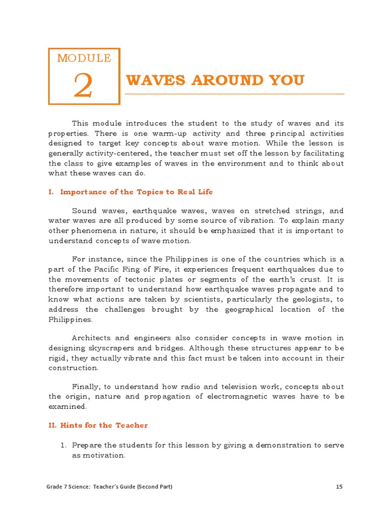 Module 2 science Grade 7 | Waves | Electromagnetic Radiation