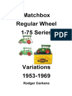 Matchbox diecast 1-75 Catalogue