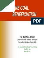 Fine Coal Beneficiation Presentation US-India Coal Working Group-2011