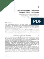 InTech-Ultra Wideband Rf Transceiver Design in Cmos Technology
