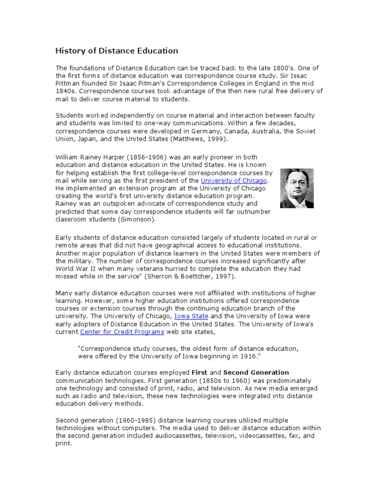 History Of Distance Education Educational Computergeneration Computer Try To Educate Technology