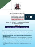 2013 Regional Summit Communique