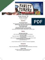 Fawlty Towers Menu