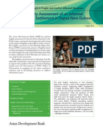Fragility Assessment of an Informal Urban Settlement in Papua New Guinea