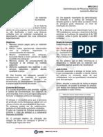 - Administração de Recursos de Materiais - Aula 01 - Material Teórico