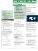 Quick Sheet for CFA level 1