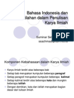 Bahasa Indonesia Dan Peristilahan