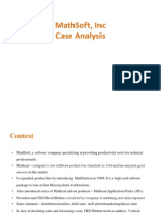 MathSoft b2b case solution
