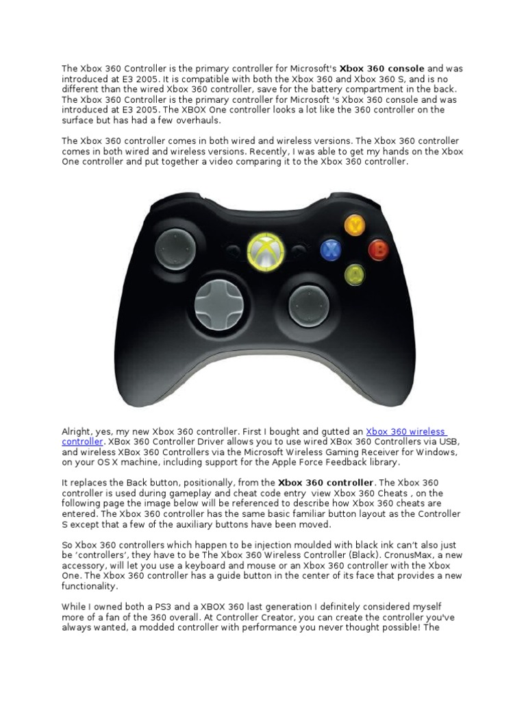 The Xbox 360 Controller and All It Can Do | Xbox 360 | Video Games